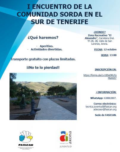 60 personas de Tenerife participarán en el primer Encuentro de la Comunidad Sorda de la Comarca Sur