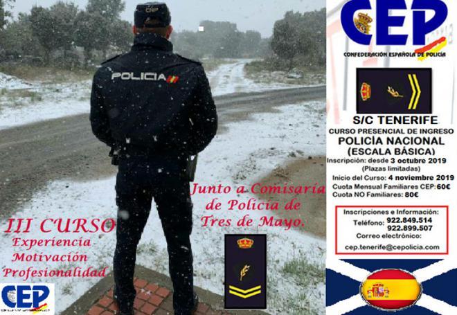 CEP oferta su tercer curso presencial para optar a la escala básica de la Policía Nacional