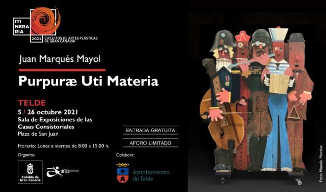 Juan Marqués expone su Purpurae uti materia en las Casas Consistoriales