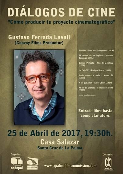 Gustavo Ferrada ofrecerá una clase magistral sobre cómo poner en marcha un proyecto cinematográfico