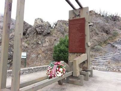 La Gomera recuerda a las víctimas del incendio de Los Roques