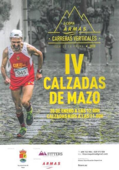 Un centenar de corredores participa este sábado en la carrera vertical 'IV Calzadas de Mazo'