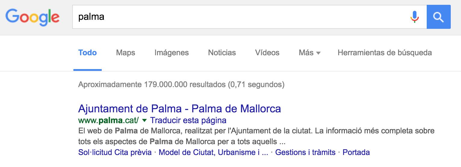 El PP balear dice que Palma se confunde en Internet con La Palma