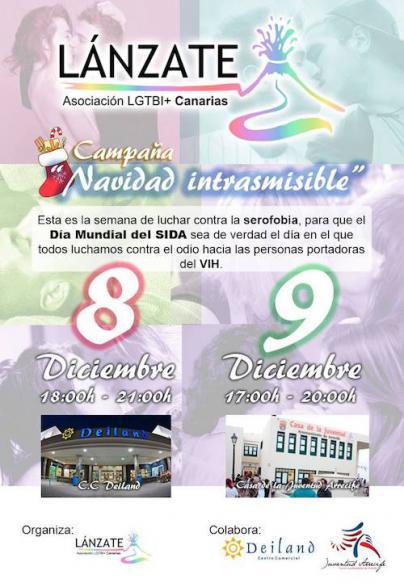 """La Asociación LÁNZATE LGTBI+ de Canarias pone en marcha la campaña """"Navidad Intrasmisible"""""""