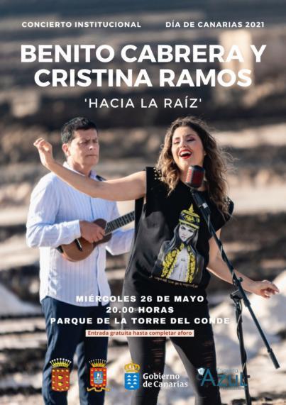 La Gomera celebra el Día de Canarias con un concierto institucional a cargo de Benito Cabrera y Cristina Ramos