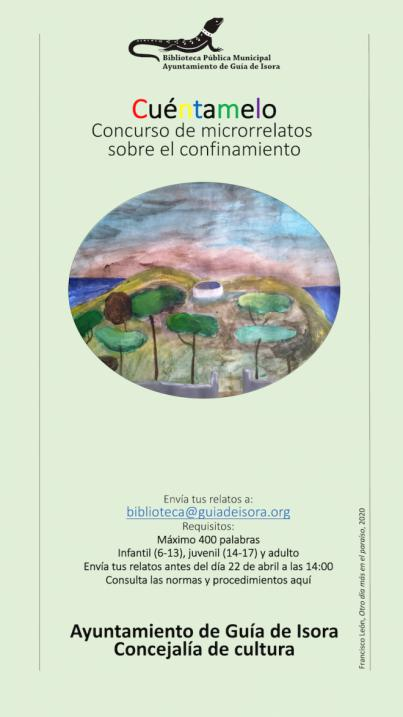 Guía de Isora convoca el concurso de microrrelatos 'Cuéntamelo'