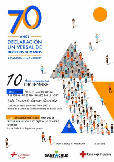 Santa Cruz conmemorará este lunes la Declaración Universal de Derechos Humanos