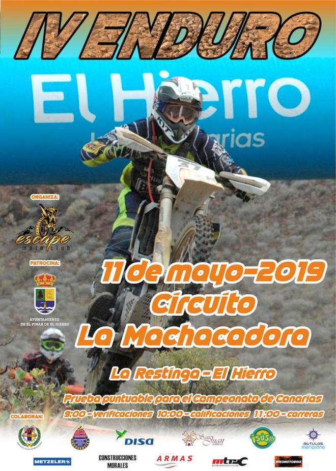 Un total de 20 motociclistas compiten este sábado en la prueba de Enduro de El Pinar