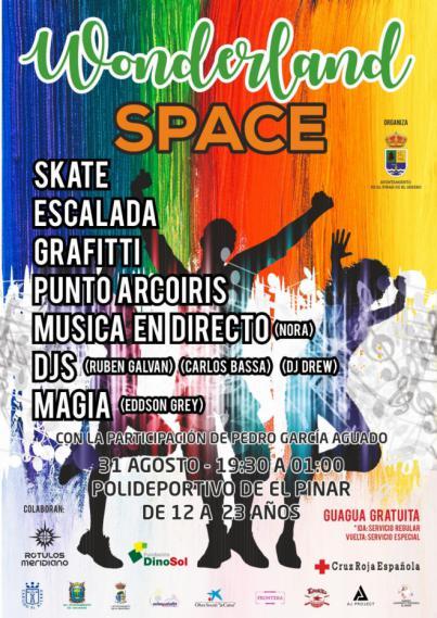 El Pinar acoge el Festival 'Wonderland Space' el próximo 31 de agosto