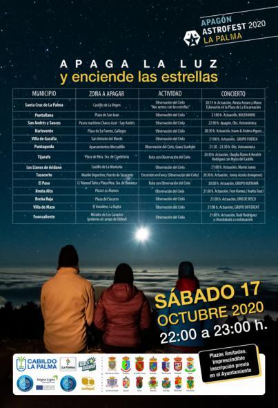 La Palma organiza una nueva edición de 'Apaga la luz y enciende las estrellas'