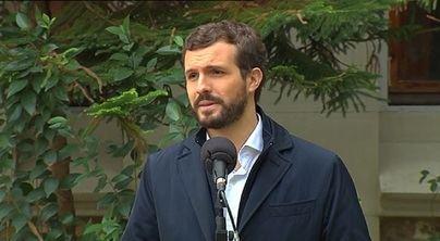 Casado hace un llamamiento a votar de forma masiva para 'desbloquear España'