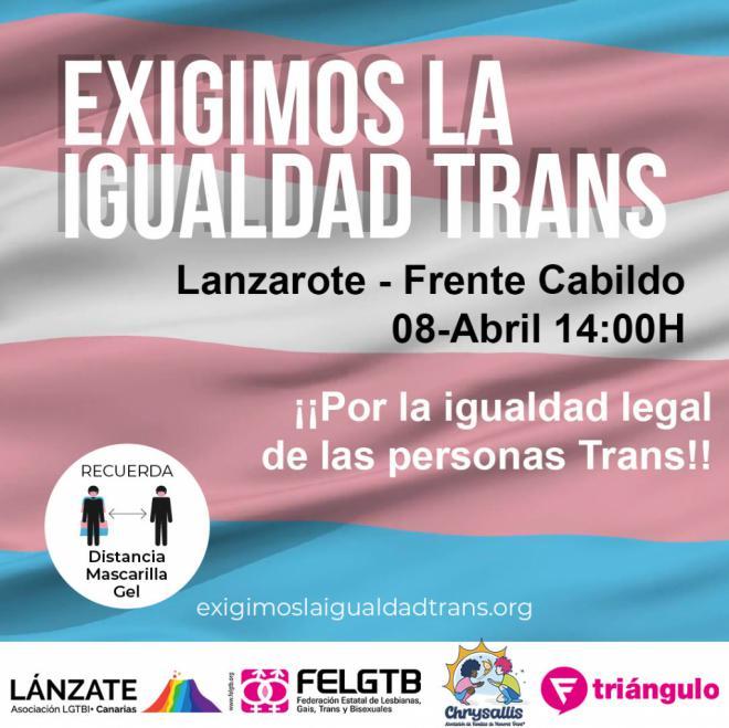 Lanzarote acoge la acción de la campaña estatal en favor de los derechos trans #ExigimosLaIgualdadTrans