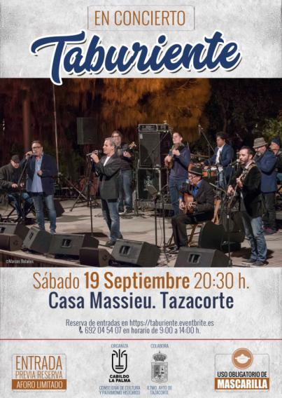 Concierto gratuito del grupo de folklore canario Taburiente