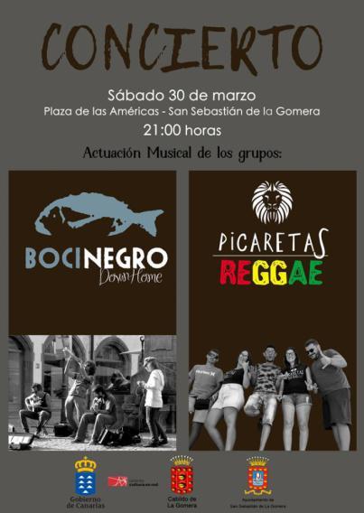 'Bocinegro Downhome' y 'Picaretas Reggae' centran la programación musical de este sábado