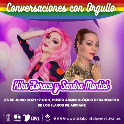 'Conversaciones con Orgullo' de la mano de Sandra Montiel y Kika Lorarce