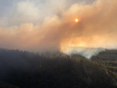 El incendio de Granadilla sigue sin estar controlado