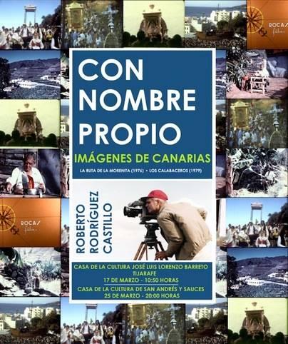 El ciclo 'Con nombre propio. Imágenes de Canarias' este viernes en Tijarafe