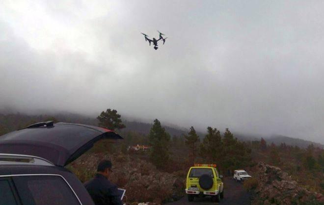 La Palma emplea drones en las tareas de búsqueda de un hombre desaparecido en Garafía