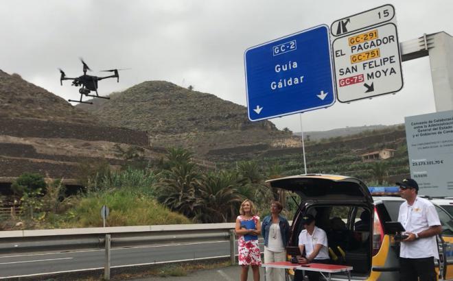La DGT prueba en Canarias la vigilancia de las carreteras con drones