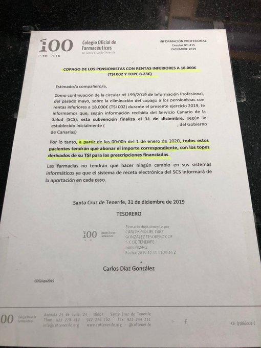 El Gobierno de Torres quita sin previo aviso los medicamentos gratuitos a casi 300.000 jubilados