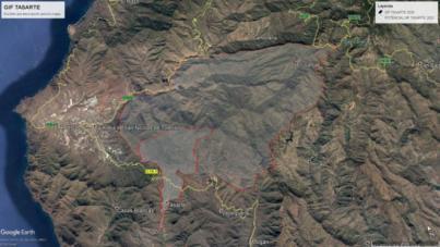 El fuego de Tasarte afecta a unas 1.000 hectáreas