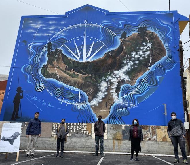 El Pinar estrena un nuevo mural gigante
