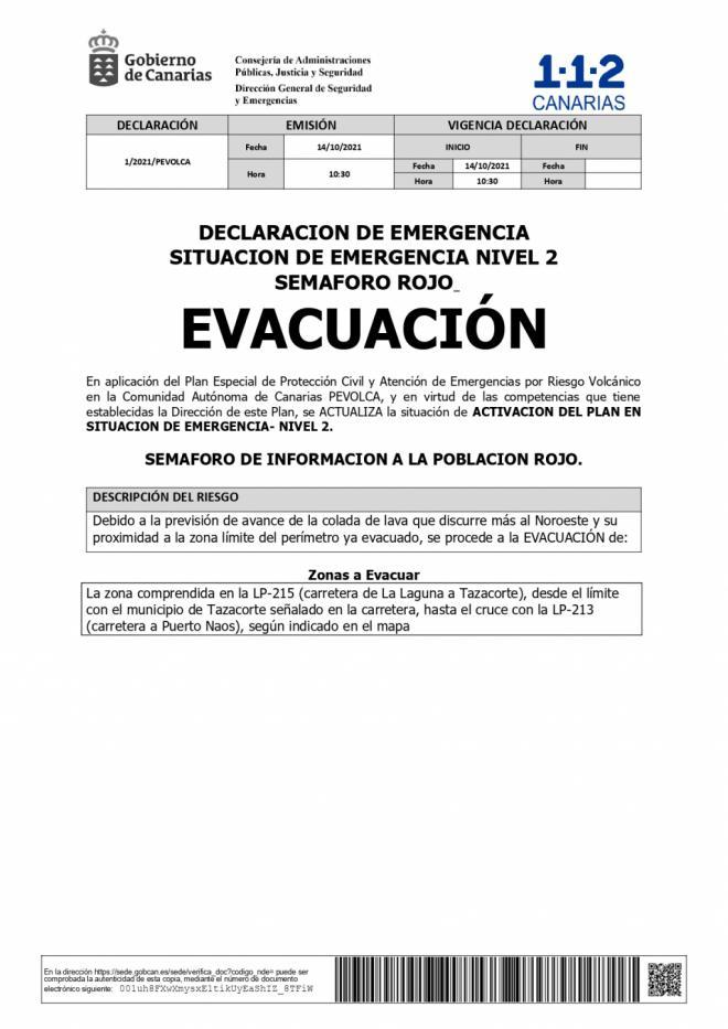 Evacuación preventiva de personas y animales desde La Laguna a Tazacorte
