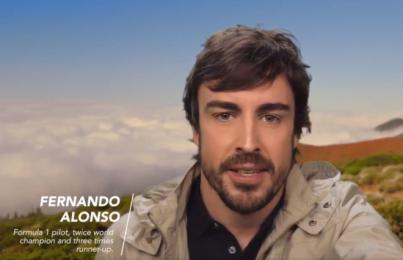 Fernando Alonso elige El Teide para la campaña 'España en 10 segundos'