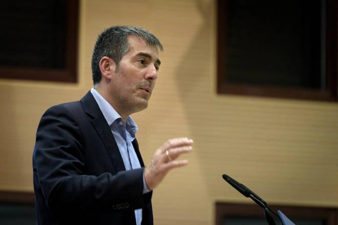 Clavijo considera 'poco concluyente' el discurso de Puigdemont