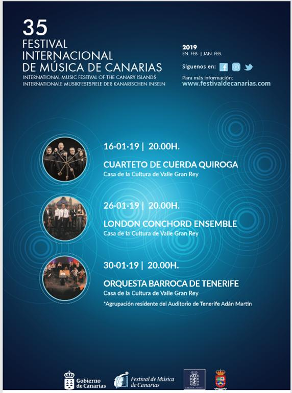 Valle Gran Rey acogerá el 35 Festival Internacional de Música de Canarias