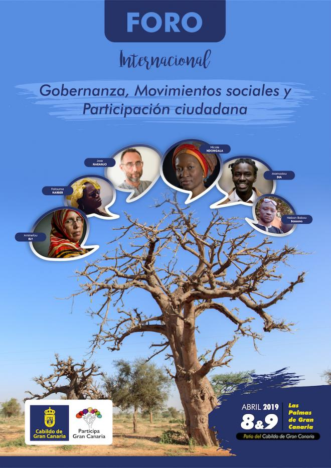 El Cabildo reúne los movimientos sociales de África y Canarias para impulsar la participación ciudadana