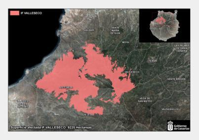 El Gobierno declara controlado el incendio forestal de Valleseco