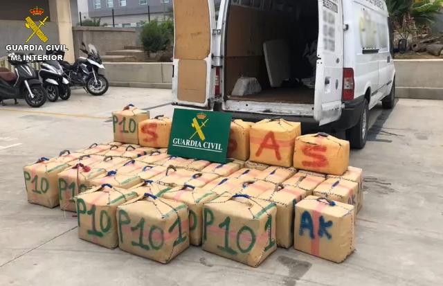 La Guardia Civil desarticula una de las organizaciones criminales más activas en la introducción de hachís en Canarias