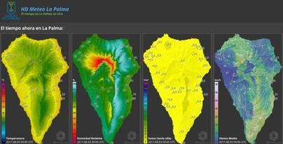 La Palma desarrolla un mapa online que muestra el peligro de incendio forestal