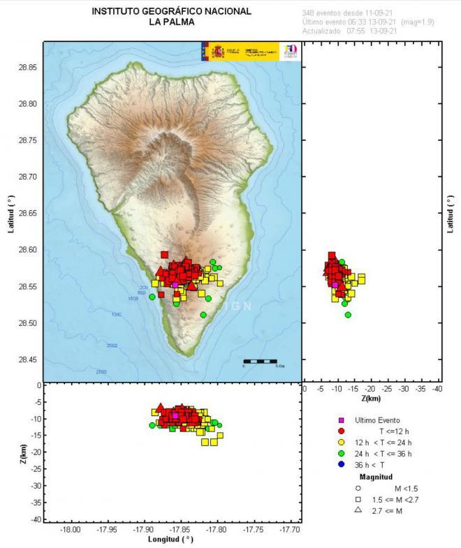 Se activa el PEVOLCA en la zona de Cumbre Vieja en La Palma para el seguimiento de la actividad sísmica