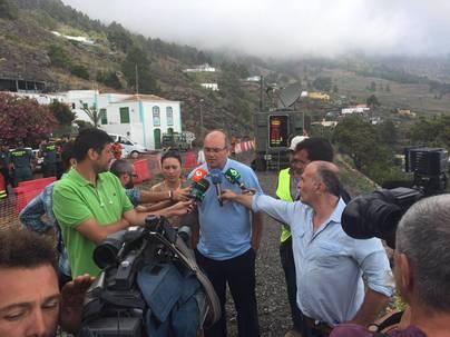 El Cabildo adoptará medidas urgentes para evitar situaciones de peligro en la zona del incendio