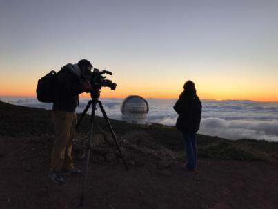 El Roque de los Muchachos, escenario de un rodaje internacional de Canal+ Francia