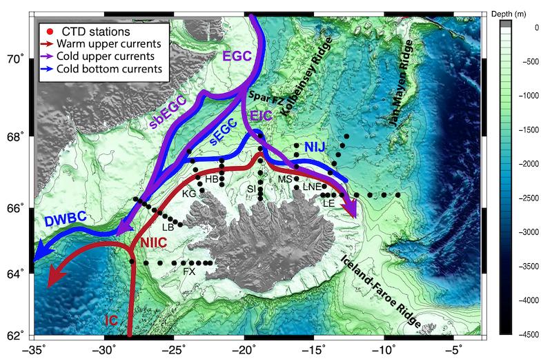 Las corrientes marinas de Canarias y de Islandia regulan el clima en la Tierra