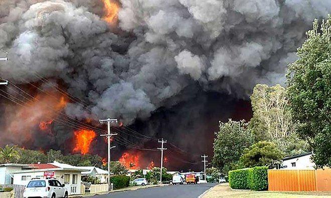 Alarma en Australia a causa de la voracidad de los fuegos que han obligado a la evacuación inmediata de numerosas zonas