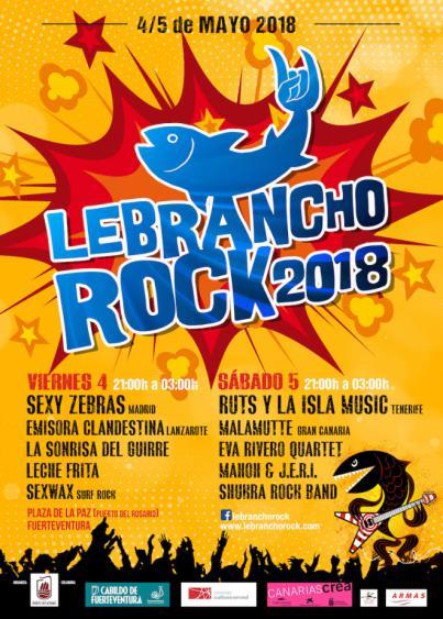 Arranca el viernes y sábado el Festival Lebrancho Rock 2018 en Puerto del Rosario