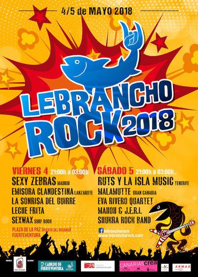 Puerto del Rosario presenta el Festival Lebrancho Rock 2018