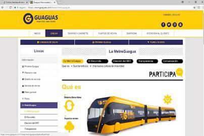 Se amplía la información sobre la metroguagua en la página web de Guaguas Municipales