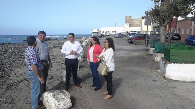 Arona pide al Estado que inicie las obras del paseo marítimo de Las Galletas