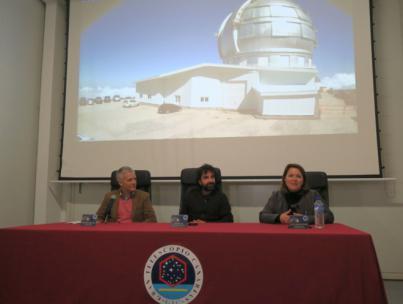 Mateo Gil presentó su nueva película en el Gran Telescopio Canarias en el marco de Astrofest La Palma