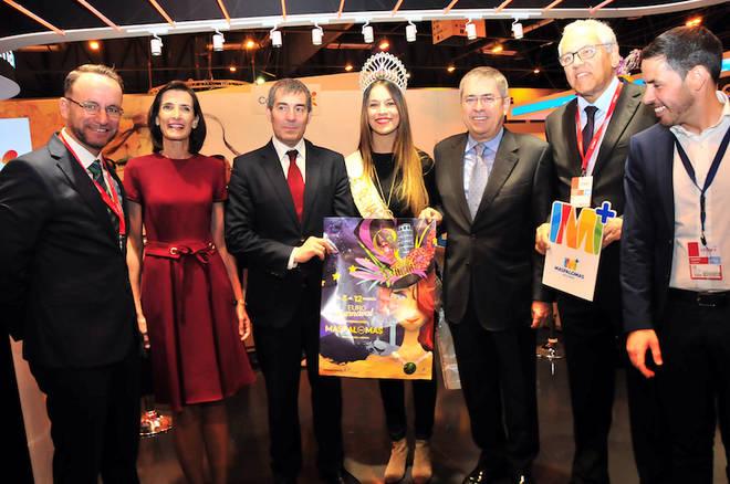 Maspalomas impresiona con el Euro Carnaval en Fitur 2017