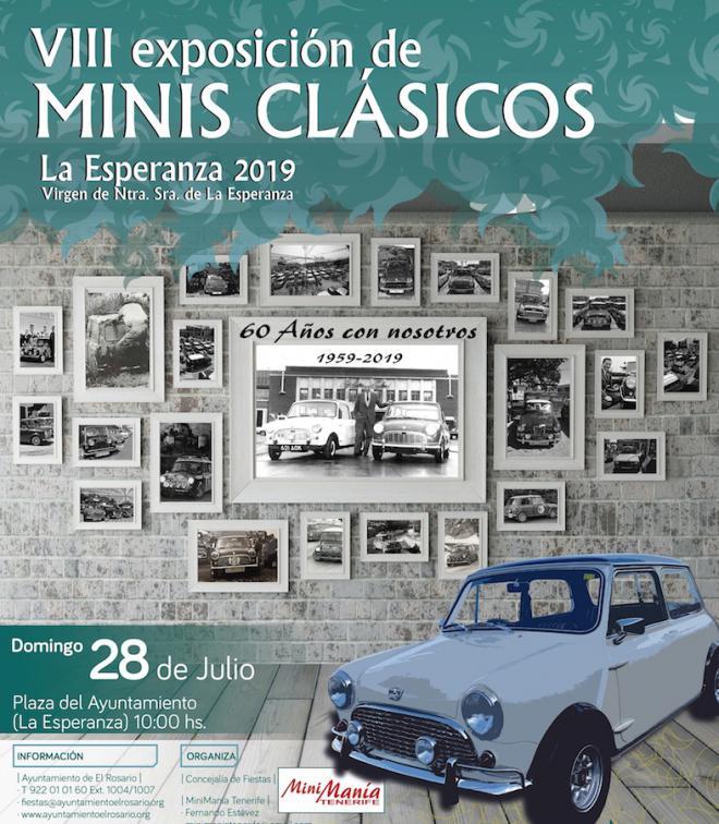 La VIII Exposición de Minis de La Esperanza celebra los sesenta años de este popular vehículo