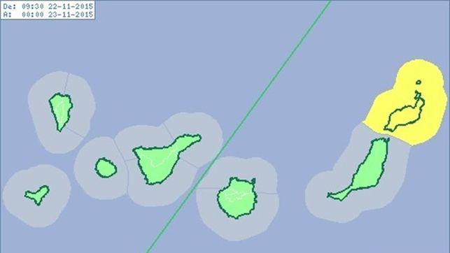 Lanzarote, en aviso amarillo por vientos de más de 70 km/h