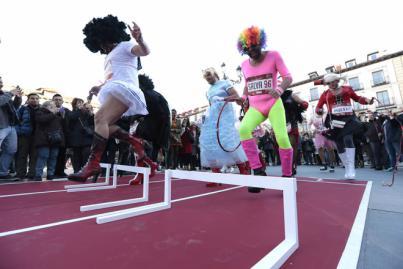 Las mascaritas durante el desarrollo de 'Mascarita Ponte Tacón' en Madrid