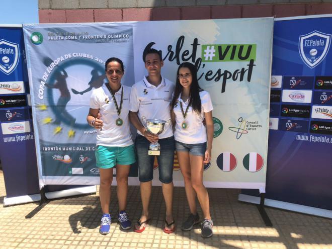 Izaskun Hernando y Mónica Hernández, campeonas de Europa en la categoría Olímpica de frontenis