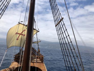 La Nao Santa María llega a las Palmas de Gran Canaria